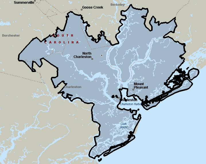 Charleston, South Carolina Courier & Delivery Service Coverage Map